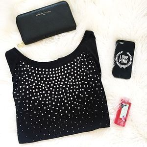 Tops - black sparkle long sleeve shirt